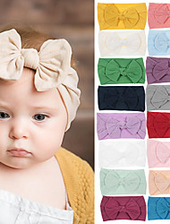 cheap -1pcs Infant Girls' Sweet Solid Colored Bow Hair Accessories White / Blue / Purple
