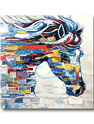 cheap -Oil Painting Hand Painted Canvas Abstract High Quality Wall Art Modern Rolled Without Frame Pop Art Horses