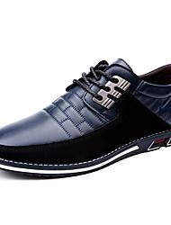 cheap -Men's Oxfords Driving Shoes Light Soles Business Walking PU Lightweight Blue Black Brown Spring & Summer