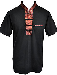 cheap -amazing grace men's chinese collar traditional top cotton tee shirt (x-large, red calligraphy black men)