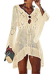 cheap -women's bathing suit cover up beach bikini lace crochet hollow out swimsuit cover ups (06-sapphire, one size)
