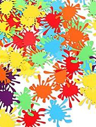 cheap -50pcs paint splatter confetti - paint confetti/art party decor/art confetti/paint birthday party decor/art birthday party decorations