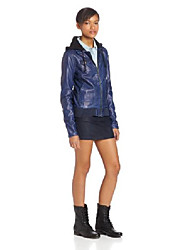 cheap -juniors motor on pu jacket, navy, x-small