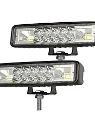cheap -2Pcs 6 Inch LED Work Light Bar Combo Spot Flood Driving Off Road SUV Boat ATV LED Day Driving Fog Lamp Spotlight