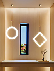 cheap -1/3 Heads LED Pendant Light Nordic Circle Lozenge 360 Degree Full Glow Art Acrylic Restaurant Chandelier Modern Simple Guest Room Luxury LED Lamps Christmas Decoration AC220V