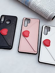 cheap -Case For Huawei Tablets Huawei P30 / Huawei P30 Pro / Huawei P30 Lite Shockproof Back Cover Heart / Solid Colored TPU