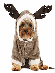 cheap -dog costume for halloween christmas, cold weather warm fleece hoodie coat, one-piece jumpsuit clothes for small, medium dogs, pups, cats