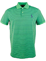 cheap -men's performance striped polo golf short sleeve shirt-gb-l green/blue
