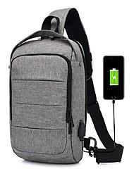 cheap -Men's Bags Polyester Synthetic Sling Shoulder Bag Chest Bag Zipper Daily Outdoor MessengerBag Black Blue Gray