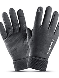cheap -Winter Gloves Running Gloves Full Finger Gloves Anti-Slip Touch Screen Thermal Warm Outdoor Cold Weather Men's Reflective Stripe Skiing Hiking Running Driving Cycling Winter / Lightweight