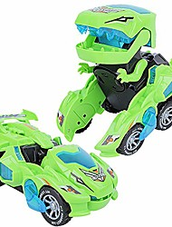 cheap -deform dinosaur toys for boys girls, 2 in 1 dinosaur toy cars for kids, transforming dinosaur led car with music, automatic dino transformers toys, boy toys dinosaurs toy car (green)