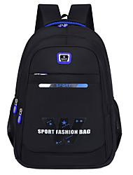 cheap -Unisex Oxford Cloth School Bag Rucksack Commuter Backpack Adjustable Large Capacity Pattern / Print Zipper Letter School Daily White Blue Orange Green