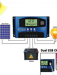 cheap -60AMPPT Auto Focus D Current High Efficiency Charge and Discharge Current Display Solar Controller