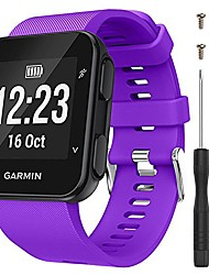 cheap -band for garmin forerunner 35, soft silicone replacement watch band strap for garmin forerunner 35 smart watch, fit 5.11 inches-9.05 inches (130mm-230mm) wrist (purple)