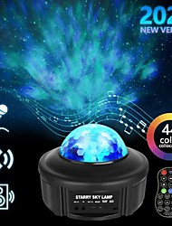 cheap -LIXFIELD Star Sky Night Light LED Projector Colour Changing Lamp With Bluetooth Speaker and Remote Control - Fun Galaxy and Ocean Water Pattern - Table Wall and Ceiling Party and Disco Lighting