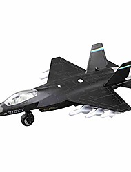 cheap -die cast metal military fighter jet for kids / airplane toy with led light (grey)