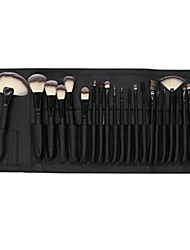 cheap -Professional Makeup Brushes 24pcs Full Coverage Wooden / Bamboo for Blush Brush Foundation Brush Makeup Brush Lash Brush Eyebrow Brush Eyeshadow Brush