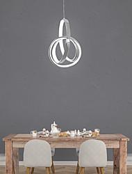 cheap -LED Modern Mini Pendant Light Ring Design Hanging Suspension Lighting Nordic Modern 10W 800Lm Light Aluminium Chrome Finishing for Dining Living Room Kichten Lamp