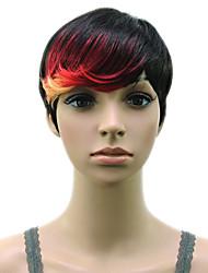 cheap -Synthetic Hair Muti Color Bangs High Temperature Fiber Woman Short Wig 18 Colors Available