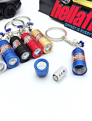 cheap -Turbo NOS Bottle Metal LED Light Key Ring Holder Car Keychain Pendant Jewelry for Women Men Unique mini keyring accessories