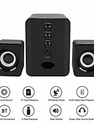 cheap -pc wireless speaker,desktop bluetooth speaker with hd stereo fm broadcast for laptop/computer/tablet(black)