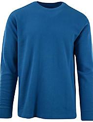 cheap -mens long sleeve thermal waffle pattern crew neck shirts (many colors) (l, 1805-vivid blue)