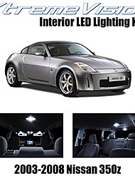 cheap -xtremevision interior led for nissan 350z 2003-2008 (5 pieces) pure white interior led kit + installation tool
