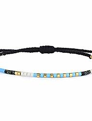 cheap -boho-color crystal shell beaded friendship bracelets handmade strand bracelet bangles jewelry for summer (blue black 88l)