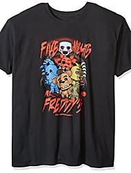 cheap -men's pop! t-shirts: fnaf - fnaf group, black, x-large