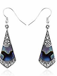 cheap -925 bali legacy sterling silver abalone shell dangle drop earrings statement stylish elegant fashion jewelry for women