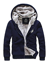 cheap -men winter casual hoodies coat thick warm jacket fleece jacket