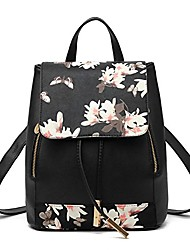 cheap -shoulder bag large capacity travel bag backpack purse for women(m, black-flower)