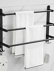 cheap -Towel Rail Rack Rack Modern Fashion Wall-Mounted Bar Bathroom Storage Finishing Multi-Layer 304 Stainless Steel Multi-Function Bathroom with Hook