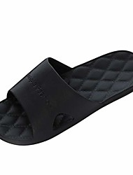 cheap -men's fashion casual couples home bathroom shower non-slip slippers pool shoes home slippers open toe slippers black