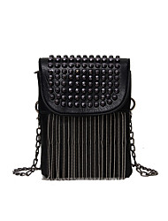 cheap -Women's Bags PU Leather Mobile Phone Bag Crossbody Bag Beading Zipper Embellished&Embroidered 2021 Daily White Black Navy Blue Beige