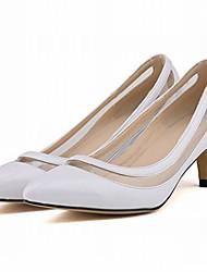 cheap -women's kitten heels transparent dress pumps clear pvc party wedding bridal office work shoes white
