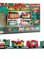 cheap -Electric Rail Toy Christmas train creative Puzzle Santa Claus Lounge with Rail Car Birthday Christmas Gifts for Child
