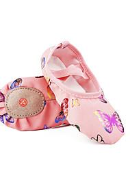 cheap -Girls' Dance Shoes Ballet Shoes Flat Flat Heel Pink Elastic Band Kid's