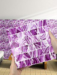 cheap -Imitation Epoxy Tile Sticker Pink Purple Mosaic Water Corrugated Wall Sticker House Renovation DIY Self-adhesive PVC Wallpaper Painting Kitchen Waterproof and Oilproof Wall Sticker