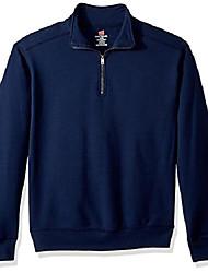 cheap -men's nano quarter-zip fleece jacket, navy, large