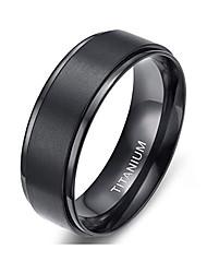 cheap -black stainless steel ring for women men band ring
