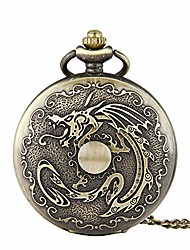 cheap -pocket watch vintage classic with thin chain pocket watch dragon vintage nostalgic pocket watch for men women watches