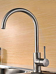 cheap -Stainless Steel Kitchen faucet - Single Handle One Hole Stainless Steel Standard Spout Centerset Contemporary Kitchen Taps