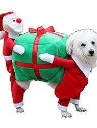 cheap -pet apparel, ღ ღ santa gift costume fancy puppy apparel jacket coat christmas dressup (l, multicolor)
