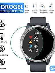 cheap -5pcs tempered hydrogel transparent film, hd film glass screen protector for garmin venu smart watch full screen coverage anti scratch, bubble free