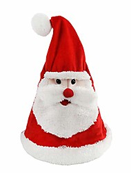 cheap -glowing dancing singing santa hat christmas interactive toys with music electronic animated cap sing a song 'jingle bell' funny xmas gift for kids girls boys adults, red, 14.5'' (hat)