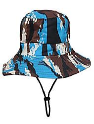 cheap -unisex children sun adjustable camouflage bucket hat blue