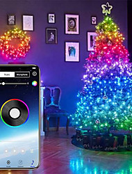 cheap -RGB Fairy Lights Led String Lights for Indoor Outdoor Twinkle Lights USB 32.8FT String Lights Color Changing Music Sync Bluetooth APP Phone Starry Lights Bedroom(32.8FT 10M)