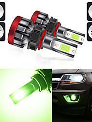 cheap -2Pcs Green Light Color Led Car Headlight Lamp Fog Lights Bulbs H8/H11 880/881 5202 9005 9006 P13W Automobile Fog Lamps Headlight