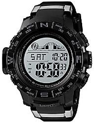 cheap -men's military digital wrist watches multi-function 50m waterproof dual time countdown alarm stopwatch sports watch (black)
